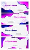 Sztandaru bąbla abstrakcjonistycznego projekta wektorowy fiołek i błękitny koloru chodnikowiec ilustracja wektor