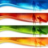 sztandaru błękit światła surfingowowie Zdjęcia Stock