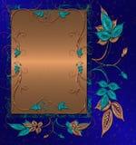 sztandaru błękit złoto Obrazy Stock