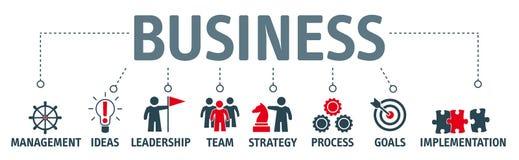 Sztandaru biznesu pojęcie kreatywnie innowacja, konsultuje, financ ilustracja wektor