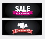 Sztandaru Black Friday sprzedaż Fotografia Royalty Free