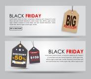 Sztandaru Black Friday sprzedaż Zdjęcie Stock