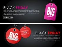 Sztandaru Black Friday sprzedaż Zdjęcia Stock