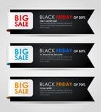 Sztandaru Black Friday sprzedaż Obraz Royalty Free