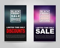Sztandaru Black Friday sprzedaż Fotografia Stock