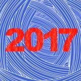 sztandaru bożych narodzeń eps10 ilustraci wektor 2017 nowy rok plakat Obraz Stock