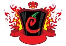 sztandaru chili emblemat Obraz Stock