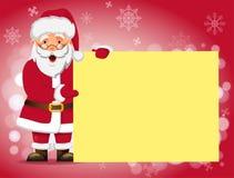 sztandaru Claus mienie Santa Zdjęcia Royalty Free