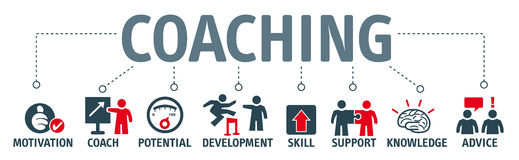 Sztandaru coaching_GB royalty ilustracja