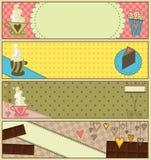 sztandaru cukierki kawowy deserowy Zdjęcie Stock
