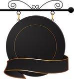 sztandaru czarny kawiarni znak Obrazy Royalty Free