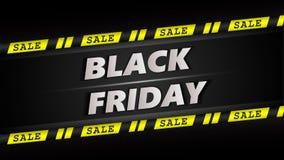 sztandaru czarny Piątek sprzedaż Zdjęcia Royalty Free