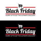 sztandaru czarny Piątek sprzedaż Obrazy Royalty Free