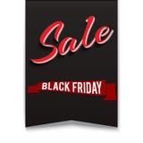 sztandaru czarny Piątek sprzedaż Zdjęcia Stock