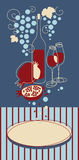 sztandaru czerwone wino Zdjęcie Stock