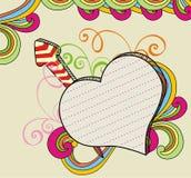 sztandaru doodle miłość Fotografia Royalty Free