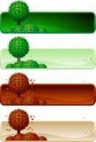 Sztandaru drzewny set. Obraz Royalty Free
