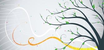 sztandaru drzewo ilustracja wektor