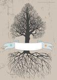 sztandaru drzewo royalty ilustracja
