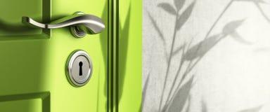 sztandaru drzwiowy nieruchomości rękojeści real Fotografia Royalty Free