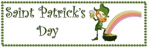 sztandaru dzień Patrick s sain Obraz Royalty Free