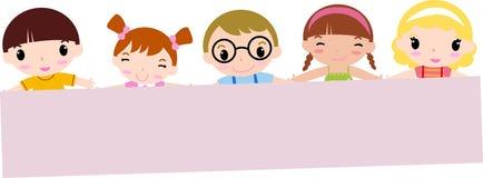 sztandaru dzieci szczęśliwy mienie Obrazy Stock