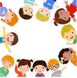 sztandaru Easter dzieciaki ilustracji