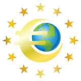 sztandaru euro Obraz Stock