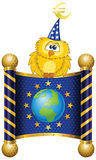 sztandaru euro Obrazy Royalty Free