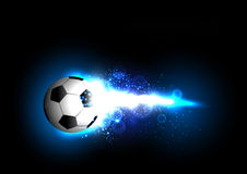 sztandaru futbolu światło Obrazy Royalty Free