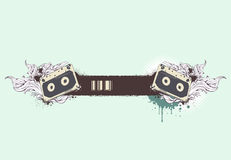 sztandaru grunge musical royalty ilustracja