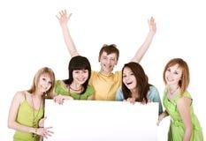 sztandaru grupy ludzie wp8lywy Zdjęcie Royalty Free