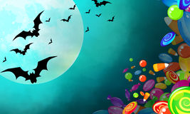 sztandaru Halloween miejsca teksta wektor twój Obraz Royalty Free