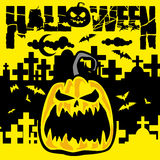 sztandaru Halloween miejsca teksta wektor twój Obrazy Stock