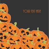 sztandaru Halloween miejsca teksta wektor twój Zdjęcie Royalty Free