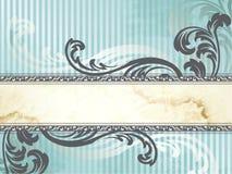 sztandaru horyzontalny srebny wiktoriański rocznik ilustracja wektor
