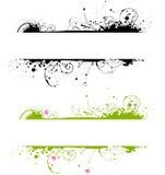sztandaru kolorów ramowy grunge dwa Obraz Stock