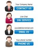 sztandaru kontakt wspiera my Zdjęcia Stock