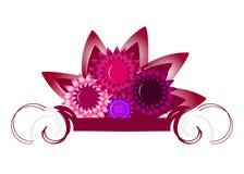 sztandaru kwiat royalty ilustracja