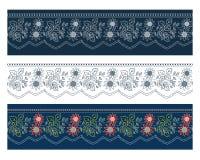 sztandaru kwiecisty błękitny Obrazy Royalty Free
