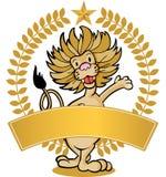 sztandaru lew Obraz Royalty Free