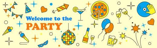 Sztandaru lub szablonu projekt dla musicalu przyjęcia świętowania Obraz Royalty Free