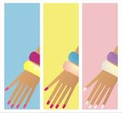 sztandaru manicure Zdjęcie Stock