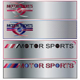 sztandaru motorowy ustalony sportów wektor Fotografia Stock