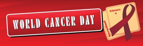Sztandaru nowotworu Światowy dzień royalty ilustracja