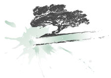sztandaru oack drzewo royalty ilustracja