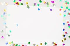 Sztandaru Partyjny plakatowy szablon Zdjęcia Stock