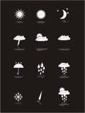 sztandaru piktogramy ustawiająca pogoda Fotografia Royalty Free