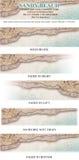 sztandaru plażowy loga mashead piaskowaty Fotografia Royalty Free