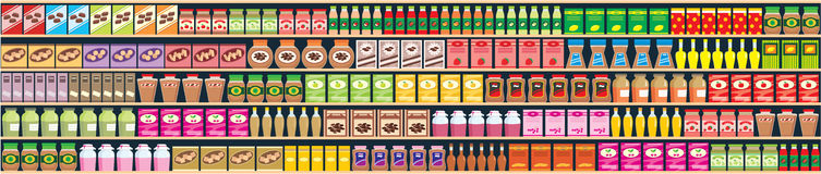 sztandaru produktów pułki bezszwowi Zdjęcie Royalty Free